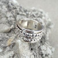 925 Sterling Silver Band Meditation Spinner Ring Jewelry Handmade All Size AS-15
