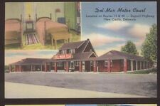 Postcard NEW CASTLE Delaware/DE  Del-Mar Motel Motor Court Dual view 1930s