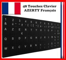 Stickers Autocollants AZERTY pour Touches de Clavier d'ordinateur Portable Noir