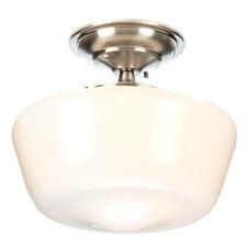 World Imports Luray Collection Brushed Nickel Semi-Flush Mount Light (WI900737)