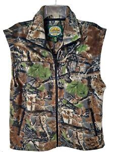 🦌 Cabela's Men's Outdoor GearPoly Fleece Camouflage Vest/Jacket Size Medium