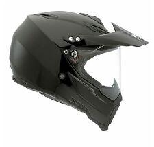 OFF ROAD HELMET AGV AX-8 AX8 DUAL EVO E05 SOLID MONO BLACK XXS 51/52 motocross