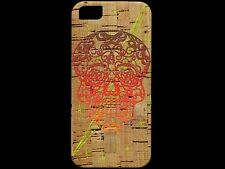 Day of the Dead Skull iPhone 5 Hard Back Natural Cork Shell Cover by Reveal