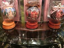 "Barbie Holiday Collector 4"" Decoupage Ornaments w/ Wood Stands - Lot of 3"