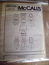M6358  PATRON  McCALL'S 3 MODELES ROBE & TUNIQUE DOS NU  TAILLE L/XL/XXL