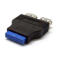 Placa base 2 anschluesse USB 3.0 a hembra en 20 pin header hembra adaptador