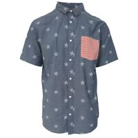 Quik Silver Men's 4th July S/S Woven Shirt (Retail $55)