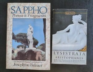 Lot of 2 Greek Works- Sappho Poems & Fragments, Lysistrata by Aristophanes, PB