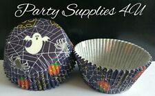 Halloween Cobweb Cupcake Cases 24pk + 24 FREE Party/Spooky/Pumpkin/Ghost/Spider