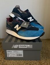 New Balance M998TCA Made In USA Size 13 Navy Ocean Blue Burgundy