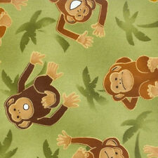 Monkey Quilting Crafts Home Deco New Fabric 100% Cotton 1Yard