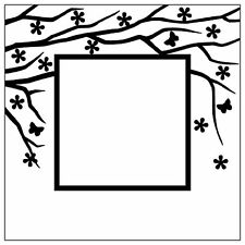 Nellie Snellen Embossing Folder - Square (Spring in the air) EFE006