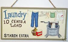 Rustic Laundry Sign Laundry 10c Load Old Wringer Washer
