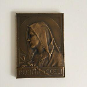 Grande Médaille en Bronze DROPSY Vierge Marie Collection Religion