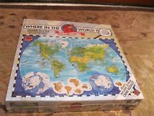 WHERE IN THE WORLD IS Carmen Santiago Puzzle NEW