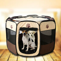 Pet Folding Tent Dog House Cage Cat Tent Playpen Puppy Kennel Octagonal Fence'