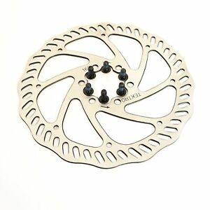 1 or 2 Tektro Haevy Duty 6 Bolt Disc Brake Bike Rotor 160/180mm Road CX Mountain