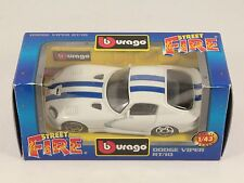 [PH3-28] BBURAGO BURAGO 1/43 STREET FIRE #4165 DODGE VIPER RT/10 BIANCO NIB