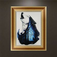 5D Diamond Painting Wolf DIY Hand Embroidery Cross Stitch Craft Home Decor