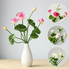 Mini Artificial Fake Lotus Silk Plastic Flower Wedding Home Floral Crafts Decor