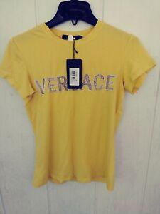 NWT VERSACE Shirt T-Shirt Tee Size XL Yellow (msmts in description) New