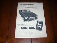1958 MGA CASTROL OIL ***ORIGINAL VINTAGE AD***