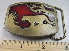 Vintage 1977 Puma, Cougar or Lion Belt Buckle - Indian Metal Craft