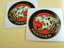 PANTHER (Handed) Motorcycle Fairing Helmet Stickers Decals 2 off 70mm