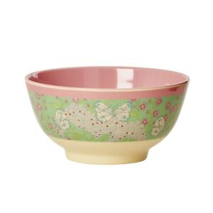 RICE Melamine bowl in butterfly and flower print