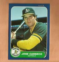 1986 fleer Update JOSE CANSECO ROOKIE CARD #U-20 Vintage Baseball Oakland A's 1