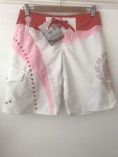 Oneil Board Shorts Size Extra Small Orange White Swim Shorts Brand New Bnwt