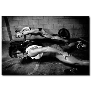 "Bodybuilding Fitness Motivational Silk Poster Gym Room Decor 13x24 24x36"" 016"