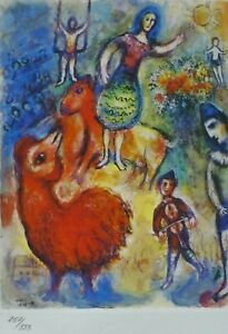 MARC CHAGALL CIRCUS 1985 SIGNED HAND NUMBERED 257/333 ETCHING