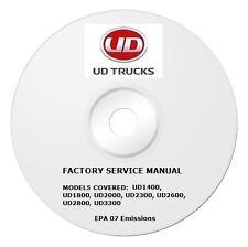 2008 2009 2010 UD Truck 1400 1800 2000 2300 2600 3300 Repair Service Manual CD