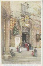 Postcard - Perugia, the Duomo with Pulpit...(pub: Medici Society Ltd)