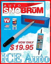 "SNO BRUM Snow Broom Snow Rake w/ 27"" - 46"" Telescoping Handle - Holiday Gift"
