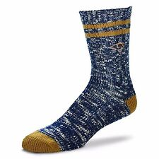 St. Louis Rams NFL Alpine Crew Socks Navy and Gold Heel and Toe Logo Leg