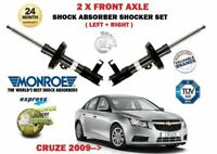 FOR CHEVROLET CRUZE 2009-> NEW 2X FRONT LEFT + RIGHT SHOCK ABSORBER SHOCKER SET
