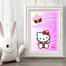 HELLO KITTY Personalised Poster A5 Print Wall Art Custom Name ✔ Fast Delivery ✔