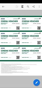 6 x Odeon Cinema Tickets - Expire 09/10/2021 **Will be emailed**