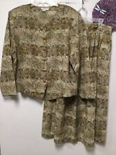 Mother Of The Bride Two Piece Dress Set Size 18 Earth Tone Beige Studio C II 147