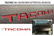 Vinyl Graphics Decal for Toyota Tacoma TRD 16-17 Glovebox Letters BARCELONA RED