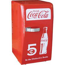 Coca-Cola Retro Mini Refrigerator, Personal Countertop Coke Dorm Compact Fridge