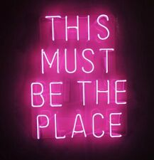 This Must Be The Place Neon Light Sign Bedroom Decor Man Cave Beer Bar Pub Glass
