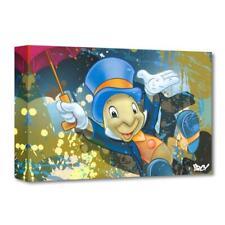 """Disney Fine Art """"Jiminy Cricket"""" by ARCY Limited Edition Canvas; COA"""
