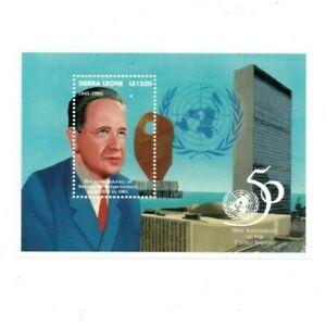 VINTAGE CLASSICS - Sierra Leone 1808 - United Nations - Souvenir Sheet - MNH