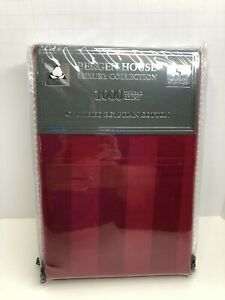Red 1000TC Standard Pillowcases Bergen House Luxury Certified Egyptian Cotton