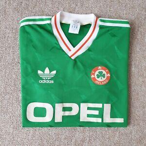 Ireland 1990 rare adidas oldschool football shirt jersey trikot L