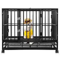"BestPet New Black 48"" Heavy Duty Dog Pet Cat Bird Crate Cage Kennel HB"
