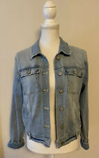 $128 NWOT Dittos Brand Faded Light Wash Denim Jeans Jacket~Size Large